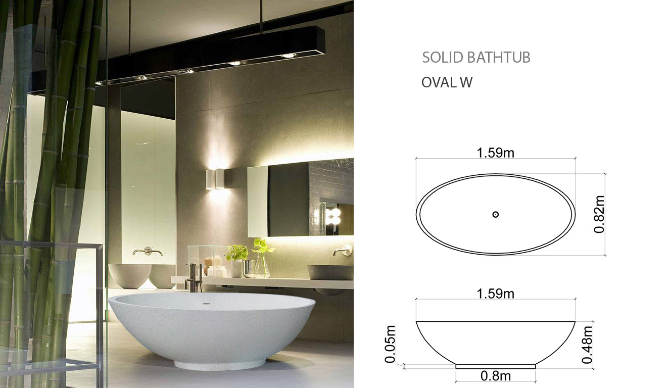 solid bath OVAL W PLUS DRAW